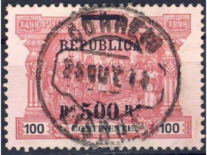1911, 500Rs/100R MiNr.195, razítkované