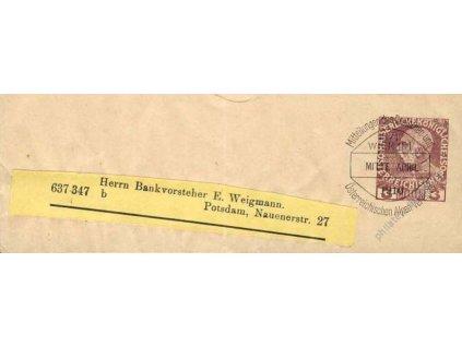 1911, novinová páska 3H, pamětní razítko