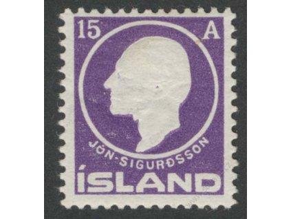 1911, 15A Sigurdsson, MiNr.67, * po nálepce
