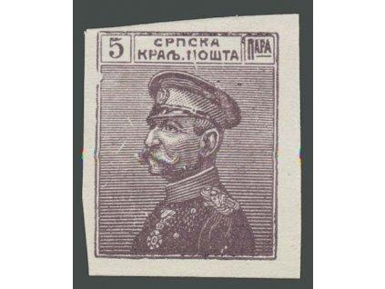 1911/14, 5Pa Peter, nezoubkovaný ZT, křídový papír, (*)