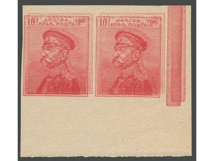 1911/14, 10Pa Peter, nezoubkovaný ZT, obyčejný papír, (*)