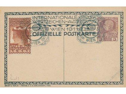 1911, Wien, Postwertzeichen Ausstellung, celinový pohled