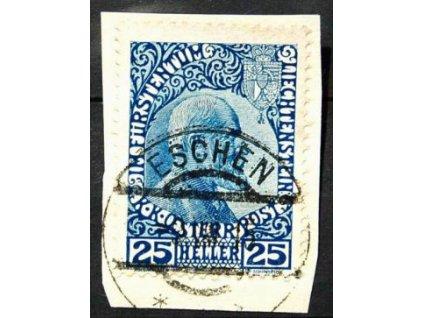 1912, 25H Johan, malý výstřižek, MiNr.3