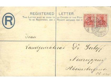 1912, DR Bitsch, R-anglická obálka, vojenská pošta