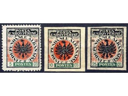 1912, 5C, 10C a 25C nevydané, (*)
