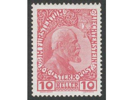 1912, 10H Johan, MiNr.2, * po nálepce, kz