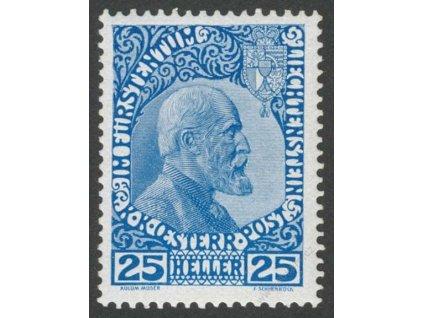 1912, 25H Johan, MiNr.3, * po nálepce