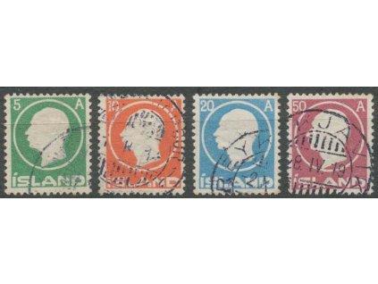 1912, 5-50A Frederik, MiNr.69-72, razítkované