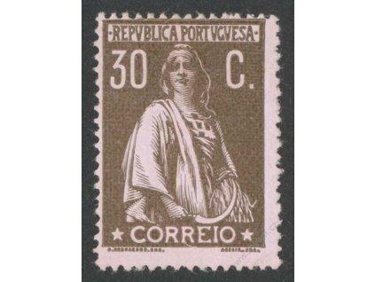 1912, 30C Ceres, MINr.216Ay, * po nálepce, ohyb v růžku