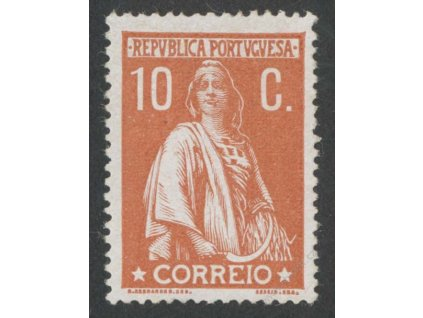 1912, 10C Ceres, MINr.213, * po nálepce