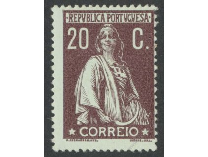 1912, 20C Ceres, MiNr.215Ay, * po nálepce