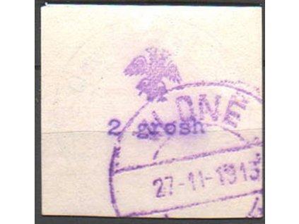 1913, 2Gr Orel, fialové razítko