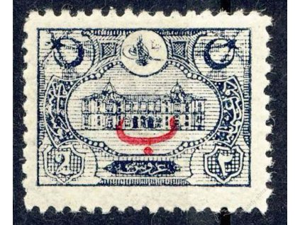 1913, 2Pia s přetiskem, MiNr.225, * po nálepce