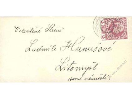 1913, Vlakové razítko, tiskopis, malý formát