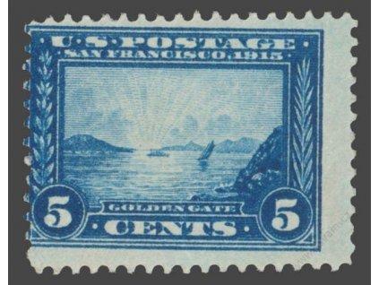 USA, 1913, 5C Golden Gate, archový obtisk, ** , dv