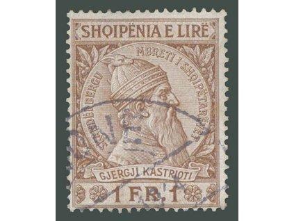 1913, 1Fr Skanderbeg, MiNr.34, razítkované