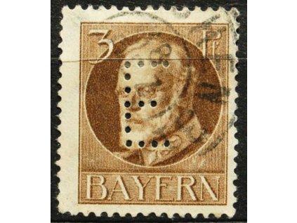 Bayern, 1914, 3Pf služební, dv, MiNr.12, razítkovaná