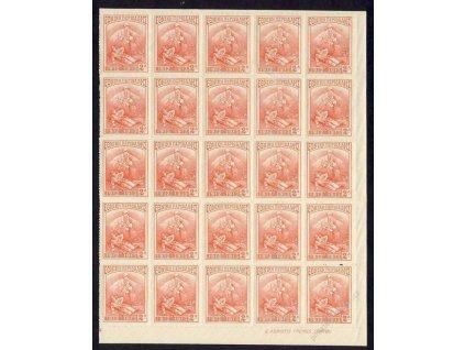 1914, 2L Zwangszuschlagsmarken, 25blok, **