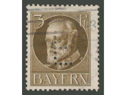 Bayern, 1914, 3Pf služební, MiNr.12, razítkované