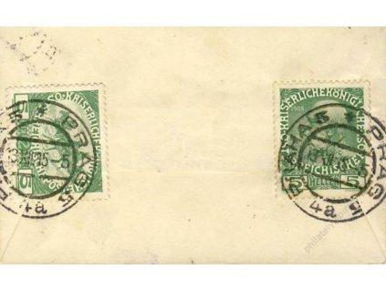 1915, Praha, dopis se smíšenou frankaturou