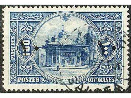 1915, 10Pia/100Pia Palác, razítkovaná