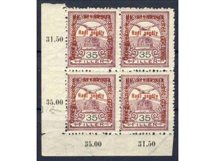 1915, 35f Koruna, DZ, 4blok, MiNr.173, **