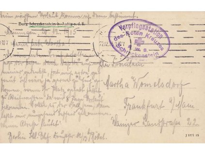 1915, Schreckenstein, Verpflegsstation des Roten Kreuzes