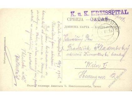 Čačak, pohlednice z roku 1916, dv