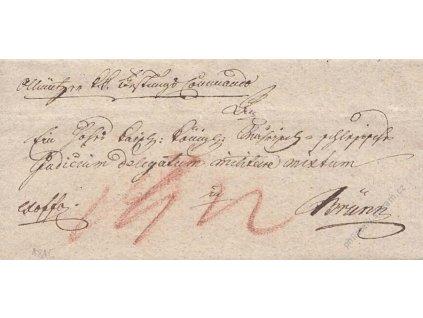 1816, Olomouc, skládaný vojenský dopis