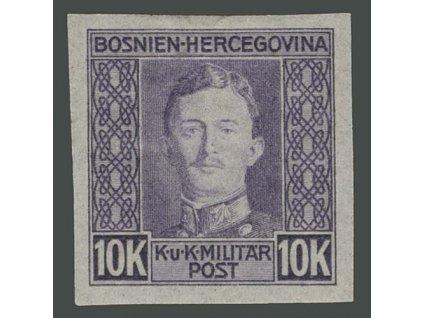 1917, 10K Karel, nezoubkovaná, MiNr.141U, těžší *