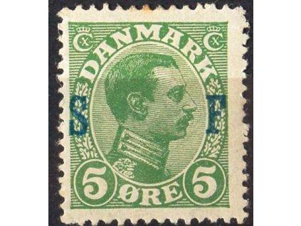 1917, 5Q Christian s přetiskem S F, * po nálepce