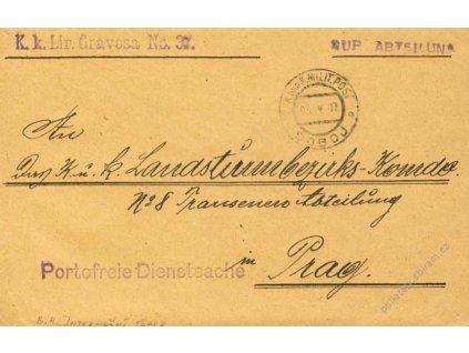 1917, Doboj, internační tábor, dopis