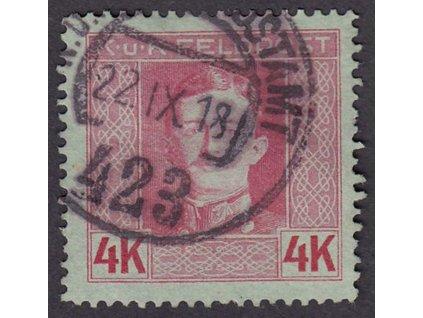 Společné vydání, 1917, 4Kr Karel, MiNr.71A, razítkované