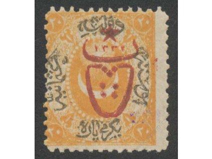 1917, (20) Pa s přetiskem, MiNr.485, * po nálepce