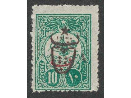 1917, 10Pa s přetiskem, MiNr.556A, * po nálepce