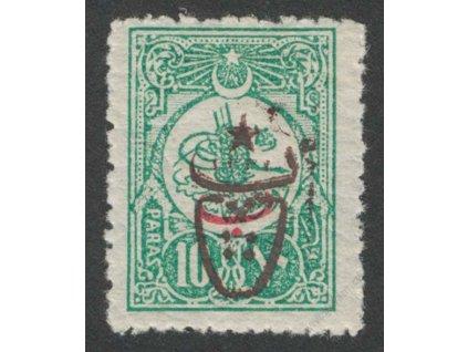 1917, 10Pa s přetiskem, MiNr.556C,  * po nálepce