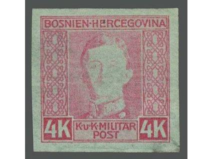 1917, 4K Karel, nezoubkovaná, horší jakost, * po nálepce