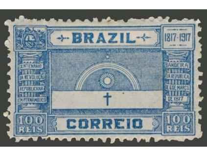Brasílie, 1917, 100R Výročí revoluce, MiNr.191, * po nálepce