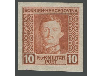 1917, 10H Karel, nezoubkovaná, MiNr.127U, * po nálepce