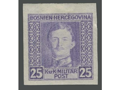 1917, 25H Karel, nezoubkovaná, MiNr.131U, * po nálepce