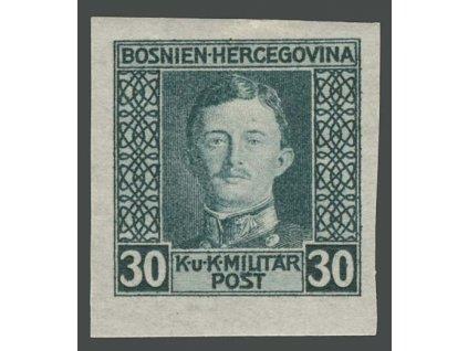 1917, 30H Karel, nezoubkovaná, MiNr.132U, * po nálepce