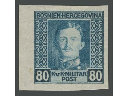 1917, 80H Karel, nezoubkovaná, MiNr.136U, * po nálepce