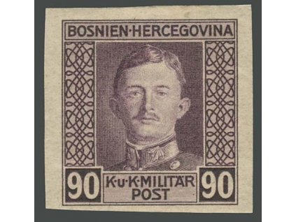 1917, 90H Karel, nezoubkovaná, MiNr.137U, těžší *