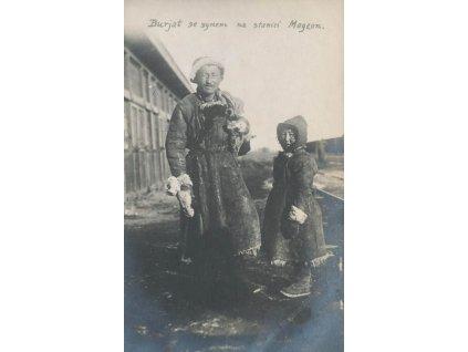 ČSPP na Rusi, Burjat se synem na stanici Magzon, pohlednice