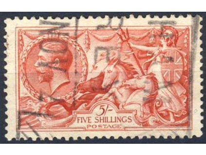 1918, 5Sh Jiří V., MiNr.142III, razítkované