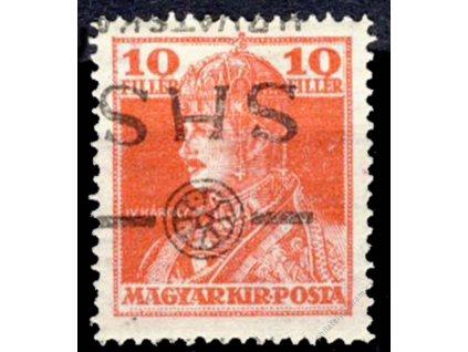 1918, 10f Karel, převrácený přetisk, těžší *
