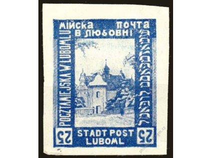 1918, Luboml, 25H Kostel, obrácené číslice, *