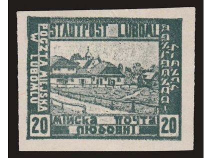 Luboml, 1918, 20H Výjev, MiNr.III, **