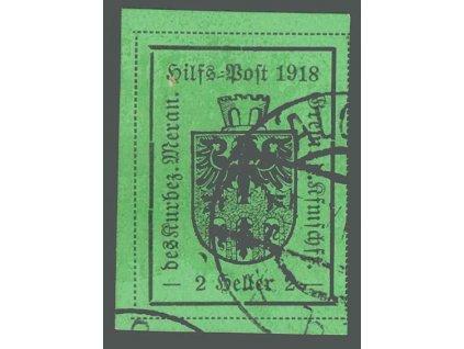1918, Meran, 2H Znak, MiNr.4, razítkované, dv