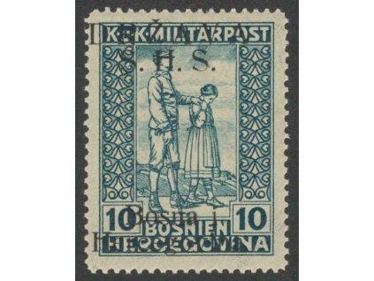 1918, 10H modrozelená, MiNr.19I, * po nálepce